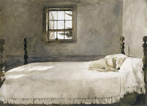 Wyeth Print Gallery Announcing Christina S World